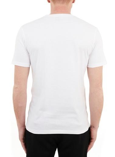 Hugo Boss  Regular Fit Baskılı Bisiklet Yaka % 100 Pamuk T Shirt Erkek T Shırt 50450911 100 Beyaz